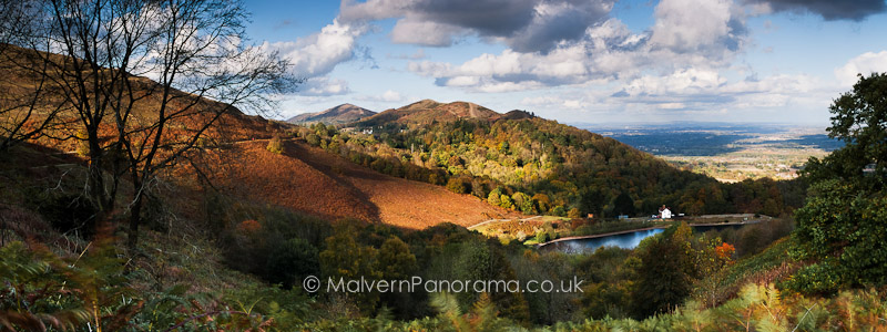 Above the Reservoir - British Camp, Malvern Hills