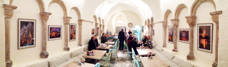 Worcester Cathedral cafe exhibition