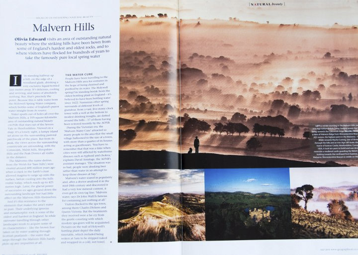 Geographical Magazine - Article about Mavern Hills