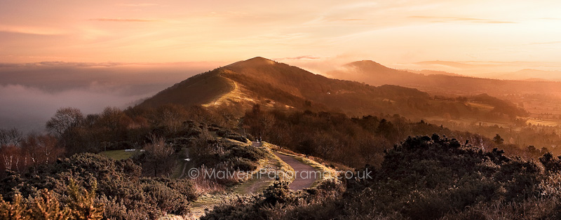 Autumn Sunset - Malvern Hills