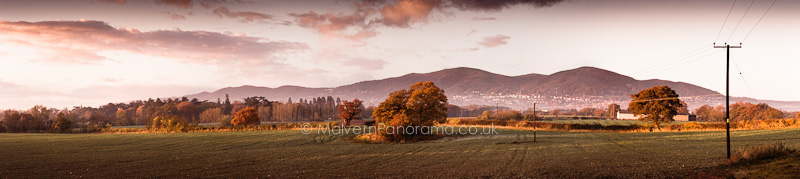 Autumn View of Malvern Hills