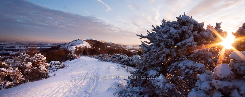 Winter Sunset - Malvern HIlls - Wyche Cutting